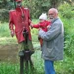 s dědou na Blatnicích